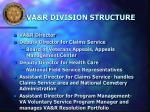 va r division structure