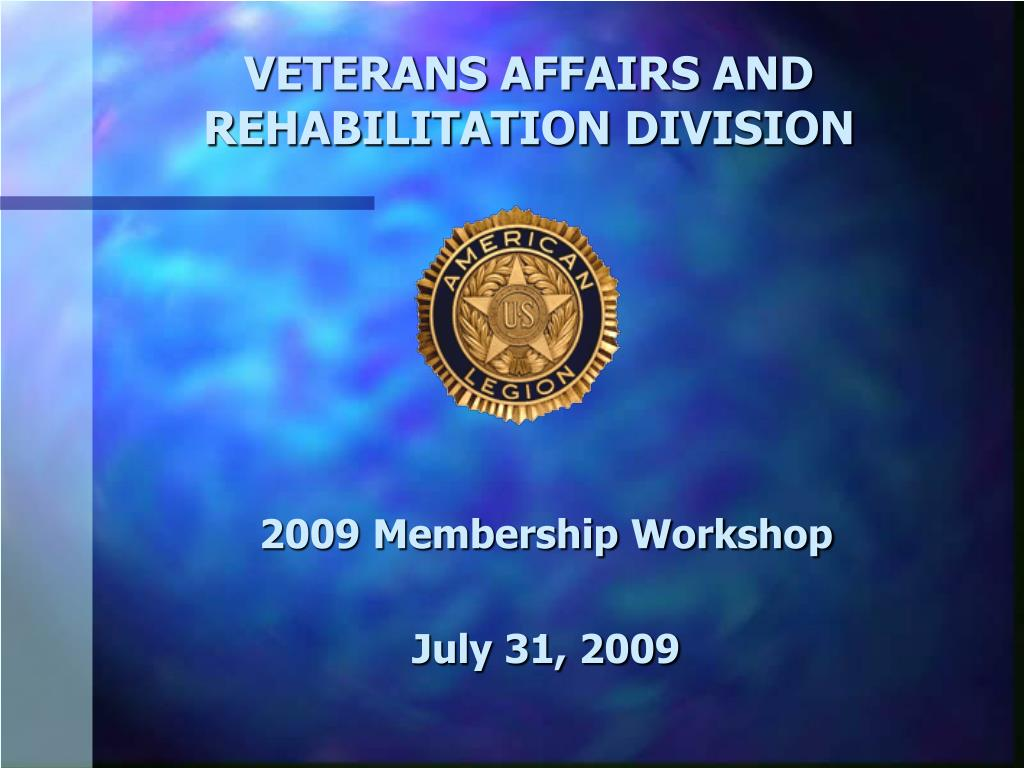 veterans affairs and rehabilitation division l.