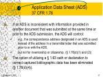 application data sheet ads 37 cfr 1 7637