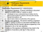 certification requirements 37 cfr 1 4 d 4