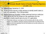 domestic benefit claims double patenting rejections 37 cfr 1 78