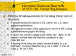 information disclosure statements 37 cfr 1 98 format requirements