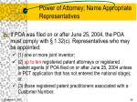 power of attorney name appropriate representatives