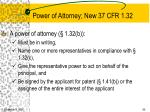 power of attorney new 37 cfr 1 32