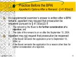 practice before the bpai appellant s options after a remand 41 50 a 2