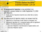 practice before the bpai examiner s answer 41 39