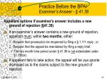 practice before the bpai examiner s answer 41 3980