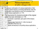 reissue applications 37 cfr 1 175 and 1 178