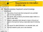 requirements for information 37 cfr 1 10551