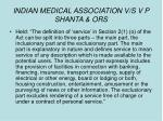 indian medical association v s v p shanta ors