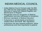indian medical council