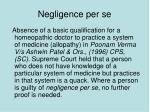 negligence per se