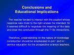 conclusions and educational implications36