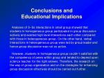 conclusions and educational implications37