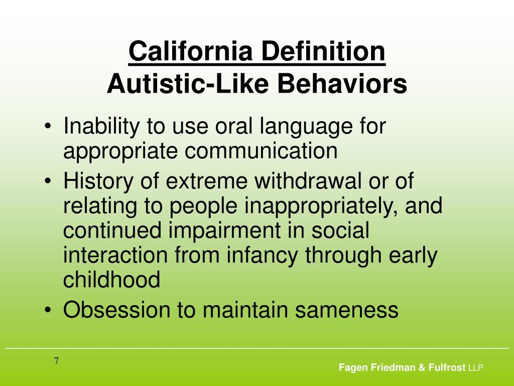 California Definition
