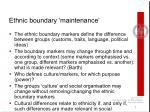 ethnic boundary maintenance