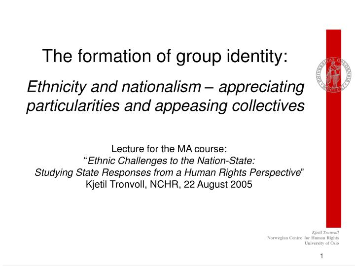 """identity formation and the development of national interest About the effects of ideational factors – like """"identity"""" – on national interests as i am of the societal sector to economic powers and to the developing world, in the case of this would confirm that identity formation is a relational process, as."""