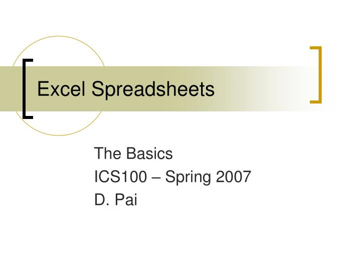 excel spreadsheets n.