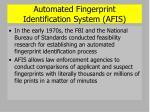 automated fingerprint identification system afis