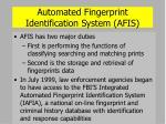 automated fingerprint identification system afis37
