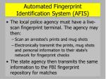 automated fingerprint identification system afis39