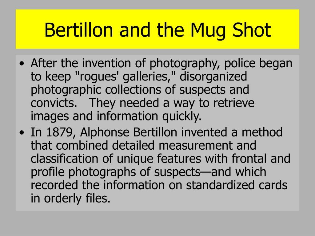 Bertillon and the Mug Shot