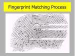 fingerprint matching process