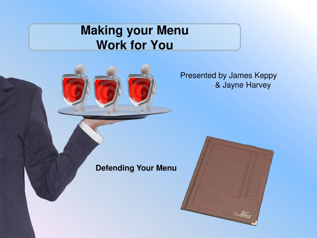 making your menu work for you l.
