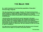 11th march 19388