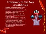 framework of the new constitution