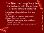 the effects of shays rebellion the problems with the articles could no longer be ignored
