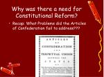 why was there a need for constitutional reform