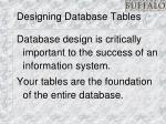 designing database tables