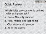 quick review13
