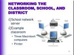networking the classroom school and district
