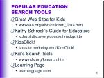 popular education search tools92