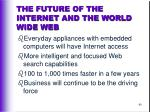 the future of the internet and the world wide web64