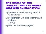 the impact of the internet and the world wide web on education