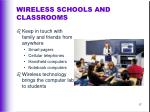 wireless schools and classrooms