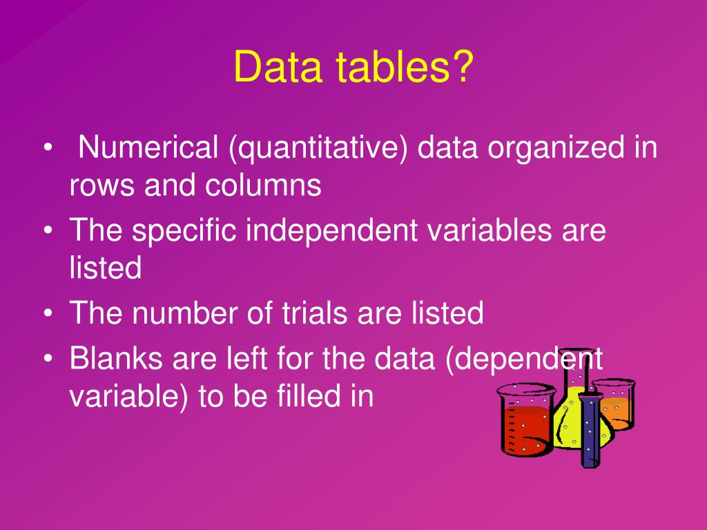 Data tables?