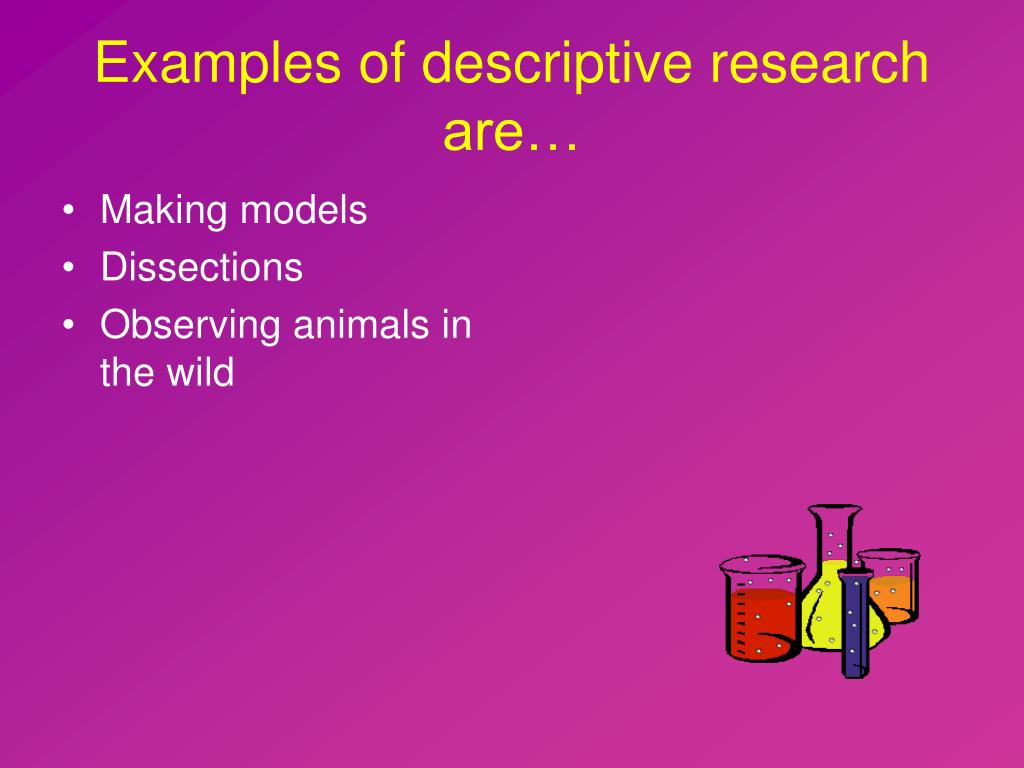 Examples of descriptive research are…