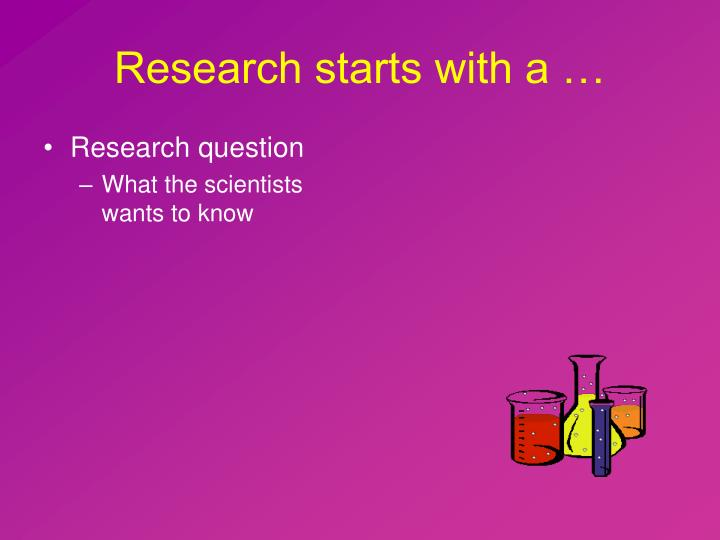 Research starts with a