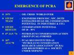 emergence of pcra