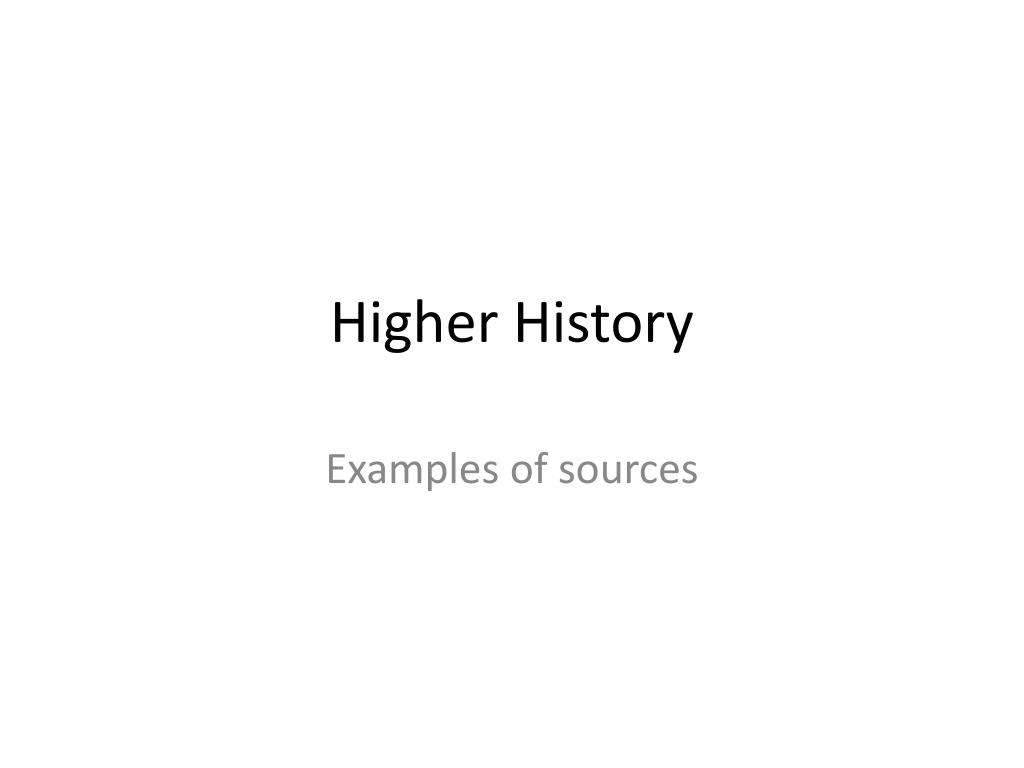 higher history l.
