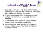 hallmarks of p with c tasks