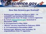 how has science gov evolved
