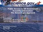 public access to us government scientific information the science gov approach