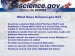what does science gov do