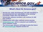 what s next for science gov