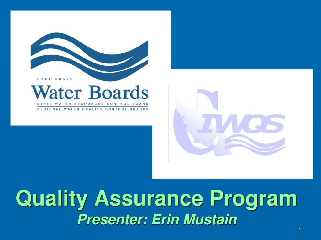 quality assurance program presenter erin mustain l.